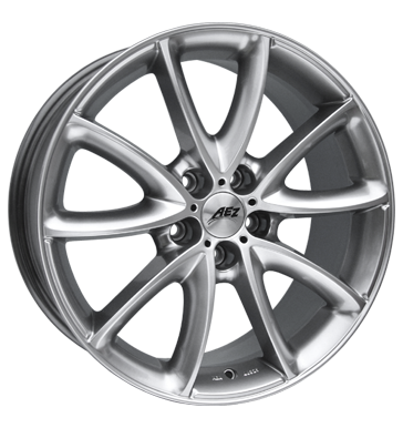 tyre - 9.5x19 5x120 ET30 AEZ Excite silber highgloss Entry sills Rims / Alu Exclusive Line ALLESIO