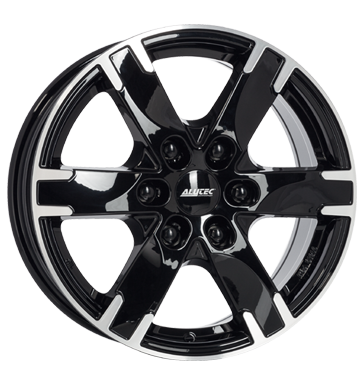 tyre - 7.5x17 6x139.7 ET38 Alutec Titan schwarz diamant-schwarz frontpoliert Speaker accessories Rims / Alu American vehicles Truck Winter car parts