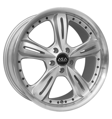tyre - 8.5x19 5x120 ET15 ASA AR 4 silber frontpoliert Chrome parts Rims / Alu Undercarriages VOLKSWAGEN tyres