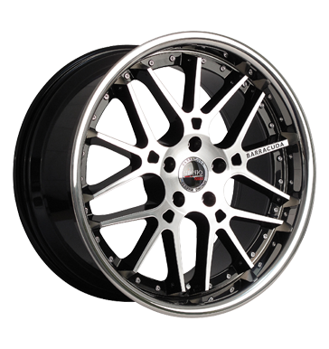 tyre - 8.5x19 5x112 ET45 Barracuda Stiletto Rosso schwarz highgloss black polished randpoliert Trunk tray Rims / Alu Parts Chip tuning + Motor tuning tyre