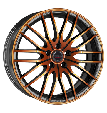 tyre - 7x17 4x100 ET38 Borbet CW4 schwarz black orange glossy Pneumatic tools Rims / Alu US car parts Roof rack + roof boxes car