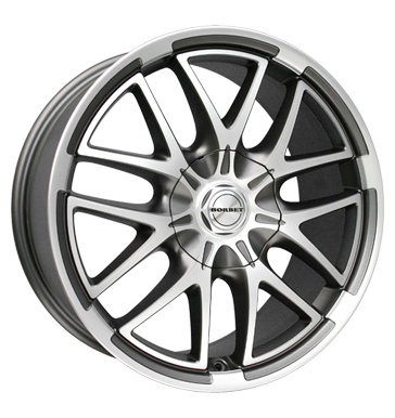 tyre - 8.5x19 5x114.3 ET35 Borbet XA grau / anthrazit mistral anthracite polished matt Truck Summer from 17.5