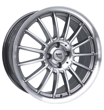 tyre - 7.5x16 4x114.3 ET38 Brock B13 silber chromsilber hornpoliert Stickers + films Rims / Alu Standard In-car accessories moped Oil