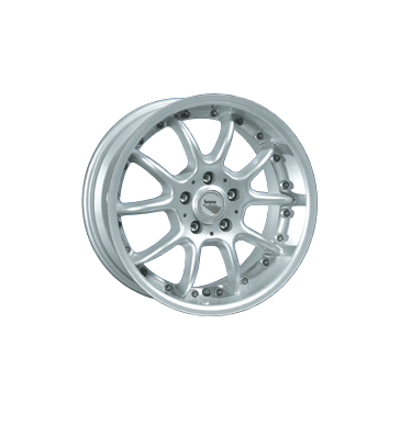 tyre - 9x16 4x108 ET30 Brock B3 silber silber lackiert Alcar Rims / Alu Exclusive Line Clincher bands: Motorcycle