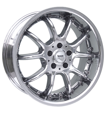 tyre - 10x18 5x110 ET20 Brock B6 chrom slc-chrom Standard In-car accessories Rims / Alu Speedline Hub caps