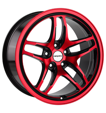 tyre - 8x18 5x120 ET46 Carmani 8 Liberty rot red polish Test category 1 Rims / Alu Electrical equipment AUDI Oil