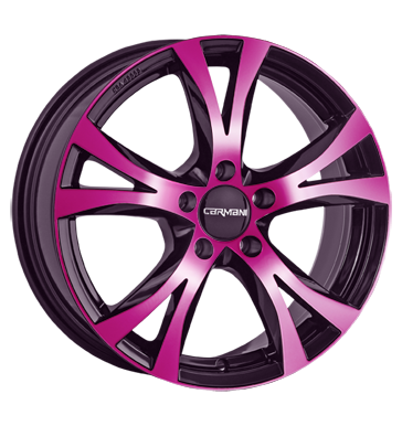 tyre - 7x16 5x120 ET45 Carmani 9 Compete pink pink polish KING Rims / Alu Vintage motorcycle parts Motor tyre
