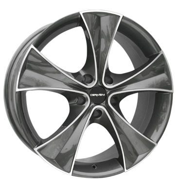 tyre - 8x18 5x112 ET35 Carmani 3 Curve grau / anthrazit anthrazit poliert Vest Rims / Alu Motorcycle Cross Oldtimer wheel