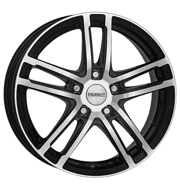 tyre - 6.5x16 5x98 ET39 Dezent TZ Dark schwarz black polished Garden Tractor Rims / Alu MPT Non-freeze liquid car parts