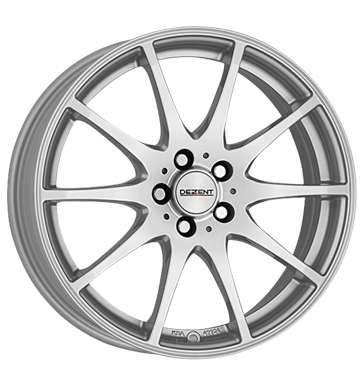 tyre - 7x17 5x105 ET41 Dezent TI silber silver Warning triangles Rims / Alu Truck Winter from 17.5