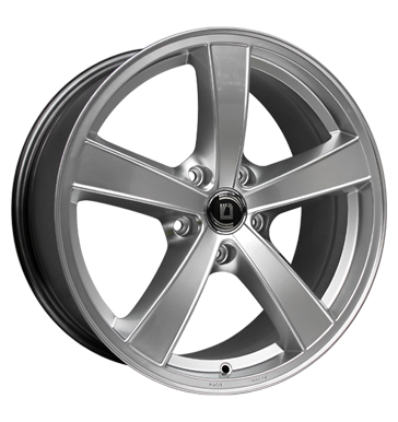 tyre - 8x17 5x120 ET30 Diewe Wheels Trina silber Argento (silber) Winter complete wheels steel Rims / Alu Chrome parts Offroad Winter wheels