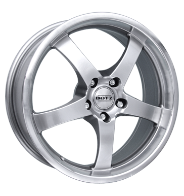tyre - 7.5x18 5x100 ET35 Dotz Daytona silber highgloss hornpoliert Momo Rims / Alu Navigation CDs and software Implement wheels