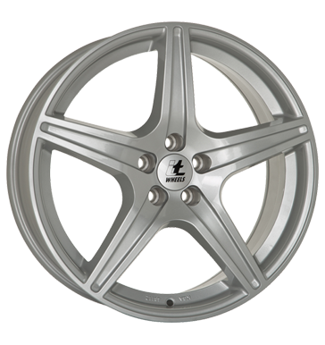 tyre - 7x16 5x112 ET47 itWheels Gabriella silber silver painted Pilot jackets Rims / Alu Valve extender / Holder Employee's car car parts