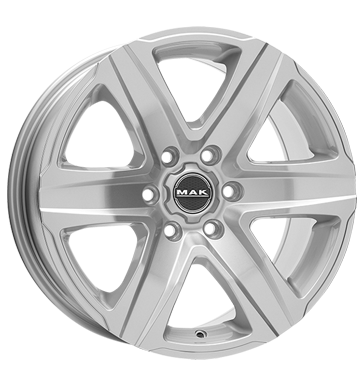 tyre - 8.5x18 5x127 ET35 MAK Stone 5 silber silver WheelWorld Rims / Alu Brake parts Sweat shirts