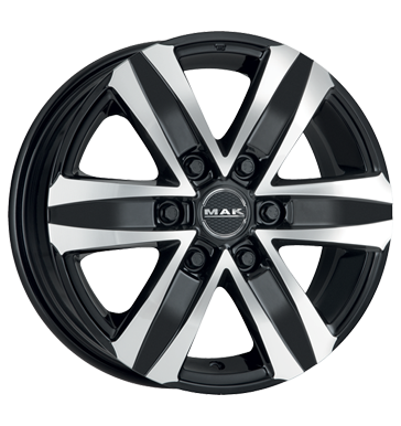 tyre - 6.5x16 6x114.3 ET30 MAK Stone 6 schwarz black mirror Hardtops Rims / Alu Safety shoes Opel tools