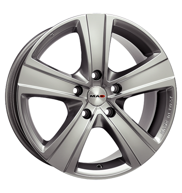 tyre - 6.5x16 5x114.3 ET40 MAK Van 5 silber silver Undercarriages Rims / Alu Renault Offroad Winter from 17.5