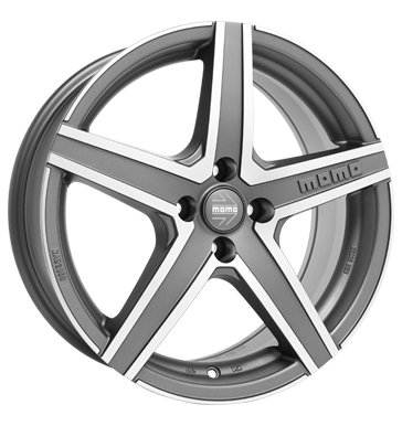 tyre - 6x15 4x108 ET40 Momo Hyperstar EVO grau / anthrazit matt anthracite diamond cut Cart Rims / Alu Standard In-car accessories Clothing Oil