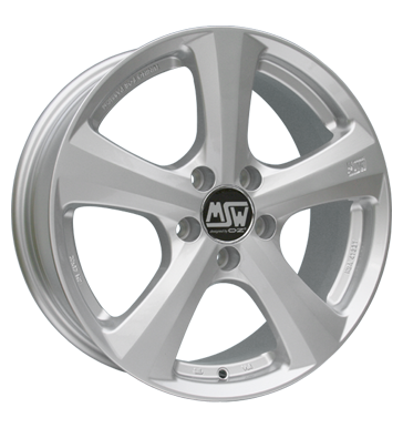 tyre - 7.5x16 5x112 ET38 MSW 19 silber silber SCHMIDT Rims / Alu Soundboards + adapter rings Dungarees tyre