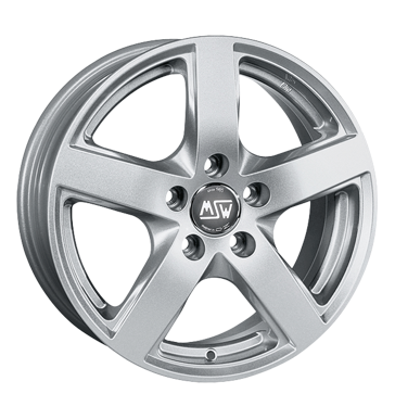 tyre - 6.5x16 5x98 ET39 MSW 55 silber full silver UNION Rims / Alu Summer car Exclusive Line