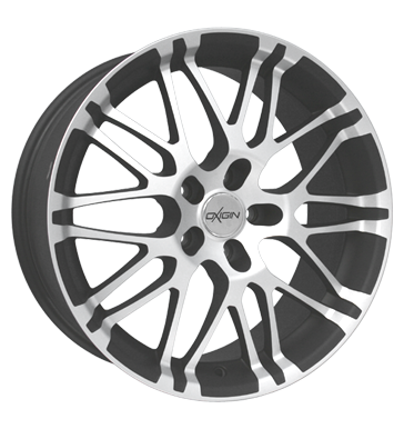 tyre - 8.5x18 5x120 ET35 Oxigin 14 Oxrock grau / anthrazit gun metal full polish Specials Rims / Alu Proline Wheels weekly