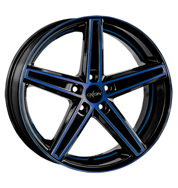 tyre - 7.5x18 5x112 ET51 Oxigin 18 Concave blau blue polish Renault Rims / Alu Offroad Winter from 17.5
