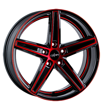 tyre - 10.5x20 5x120 ET35 Oxigin 18 Concave rot red polish Südrad Rims / Alu Older than 2 years UNION utilities