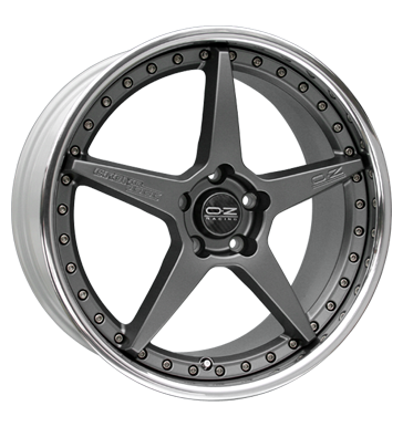 tyre - 8.5x20 5x120 ET34 OZ Crono III silber matt graphit silber Motorcycle Racing Rims / Alu Tyre Cooling - Climate steel rim