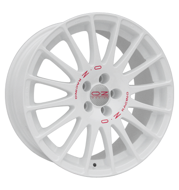 tyre - 7x16 5x100 ET36 OZ Superturismo WRC weiss weiß lackiert rote Schrift Moped & Mokick parts Rims / Alu Rim beds (spare parts) PLATIN tyres