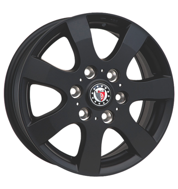 tyre - 7x16 5x120 ET34 Platin P55 schwarz schwarz matt Storage boxes Rims / Alu US car parts Antera steel rim
