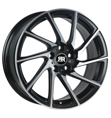 tyre - 9x20 5x114.3 ET35 Racer Wheels Turn schwarz satin black machined face Electrical equipment Rims / Alu Offroad full year from 17.5