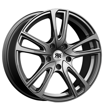 tyre - 7x17 5x114.3 ET48.5 Racer Wheels Wave grau / anthrazit full gun Add rim lock Rims / Alu Complete systems Special offers