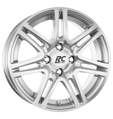 tyre - 6.5x15 4x100 ET35 RCDesign RC28 silber kristallsilber EMOTION Rims / Alu Car Winter Car Hi-Fi + Navigation tyre