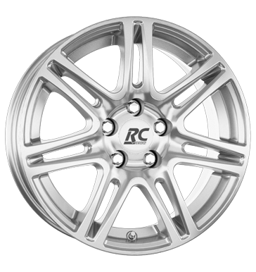 tyre - 7x16 5x98 ET27 RCDesign RC28 silber kristallsilber Car Hi-Fi rarities Rims / Alu Truck Summer from 17.5