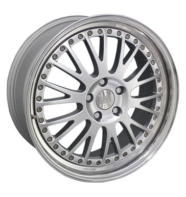 tyre - 9.5x19 5x112 ET18 RH AN Crossline silber silber Horn poliert REPLIKA Rims / Alu Windshield cleaning Opel car