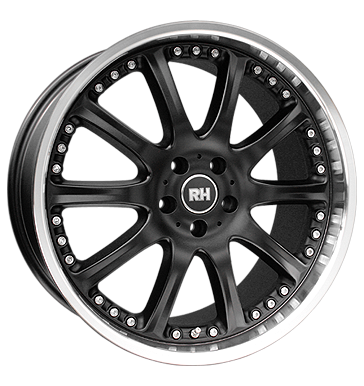 tyre - 9x17 5x114.3 ET35 RH AO Phönix schwarz schwarz Hornpoliert FOSAB Rims / Alu Electrical equipment Summer total wheels aluminium wheels
