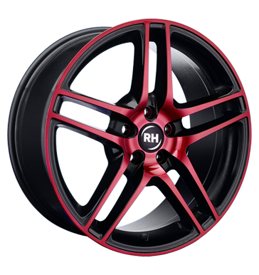 tyre - 9x20 5x112 ET60 RH BE Twin rot color polished - red KING Rims / Alu Jackets Clip-on weights