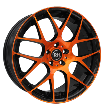 tyre - 9.5x19 5x120 ET35 RH NBU Race orange color polished - orange INDIVIDUAL Rims / Alu RONDELL Hoses / Clincher bands car parts