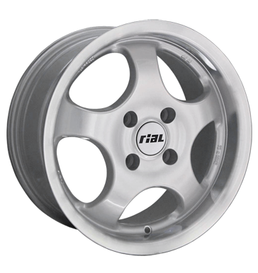tyre - 7.5x16 4x114.3 ET38 Rial GS silber silber Horn poliert Daily Rims / Alu Wheel care Track extension alu rim