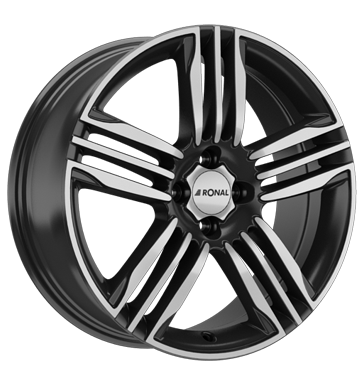 tyre - 7x17 4x108 ET45 Ronal R57 schwarz schwarz-frontkopiert Barracuda Rims / Alu Clip-on weights Steering and axle suspension