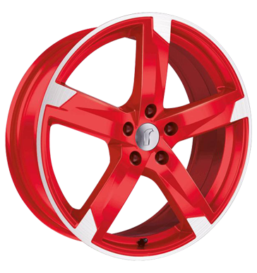 tyre - 8x18 5x112 ET48 Rondell 01RZ rot racing rot poliert Baro Rims / Alu Brock Crossover networks car parts
