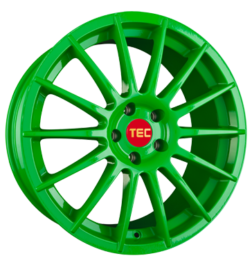 tyre - 7.5x17 5x114.3 ET45 TEC Speedwheels AS2 grün race light-green Borbet Rims / Alu SPORTIVE WHEELS Light truck Winter from 17.5