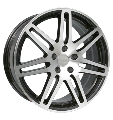 tyre - 8x18 5x112 ET35 Wheelworld WH1 schwarz black polished MIGLIA Rims / Alu Tow bars Car Hi-Fi rarities tyre